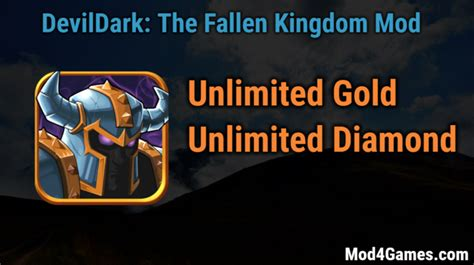game offline mod apk unlimited devildark the fallen kingdom modded game apk free with