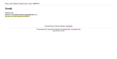 membuat hak akses user di php frombanda membuat login php dan hak akses multi user