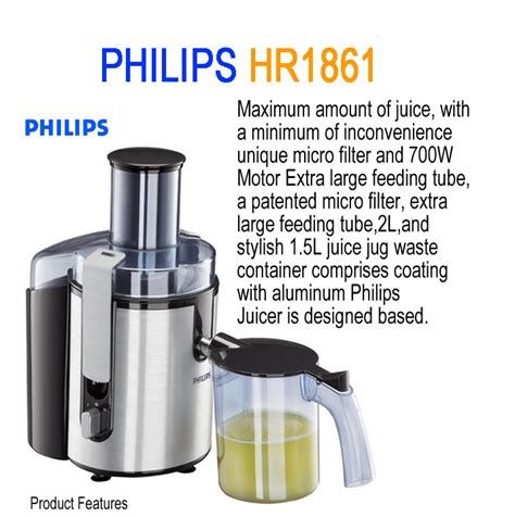 Juicer Philips 1861 new juicer philips hr1861 700w juicer extractor fruit