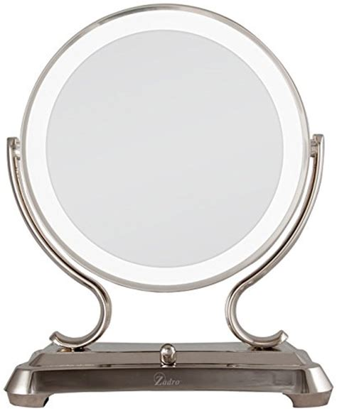 Polished Nickel Vanity Mirror by Zadro Polished Nickel Surround Light Dual Sided Vanity Mirror 5x 1x Magnification