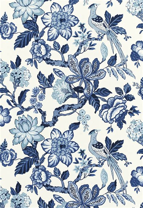 french pattern blue and white quot shades of blue quot summertime blues from schumacher fabrics