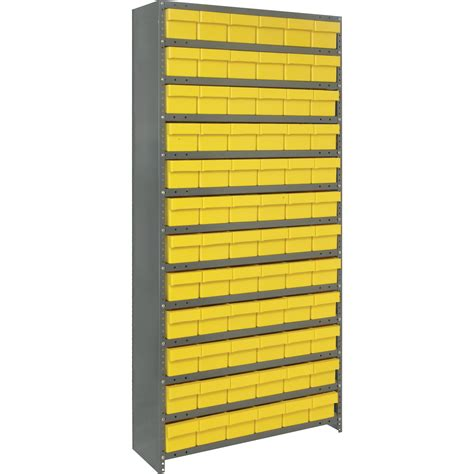 quantum storage closed shelving system with tuff