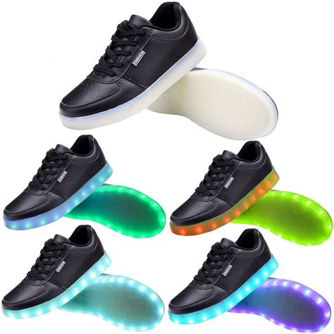 womens light up shoes women usb charging led light up shoes flashing sneakers blue