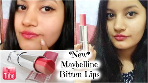 Maybelline Ombre Lipstick new maybelline bitten honest review 3 colours in