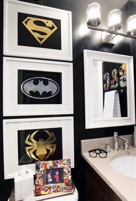 superhero bathroom decor decorating with style a sophisticated superhero bathroom