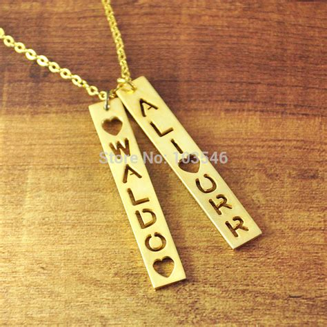how to make custom gold jewelry aliexpress buy custom gold color bar necklace