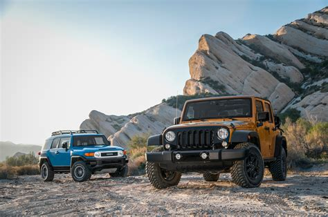 jeep van 2014 2014 jeep wrangler unlimited vs 2014 toyota fj cruiser
