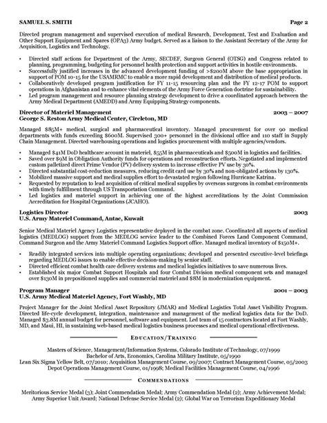 sample military to civilian resume 8 military to civilian resume