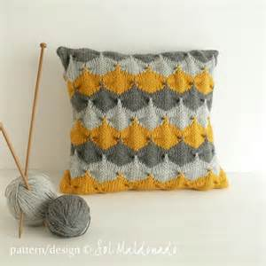 Name knitting geometric cushion decorative knit pillow