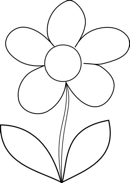 easy flower template simple flower coloring page for free printable picture