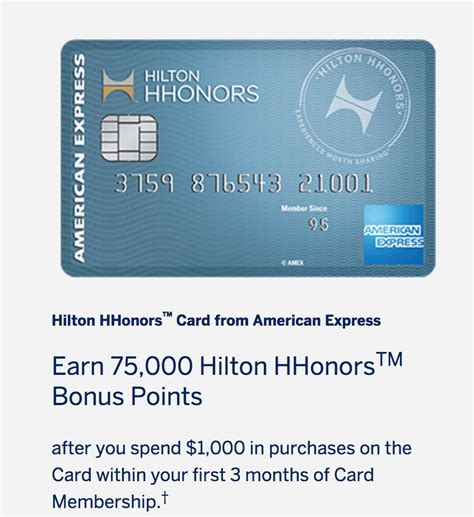 hilton hhonors card from american express earn hotel best offer earn 75 000 hilton points with no fee hilton