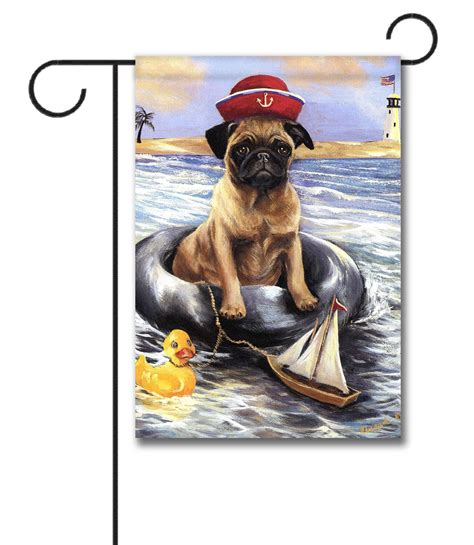 pug garden flags pug sailor garden flag 12 5 x 18 gateway