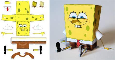 How To Make Spongebob With Paper - cr 233 ez votre propre paper dans un style minecraft