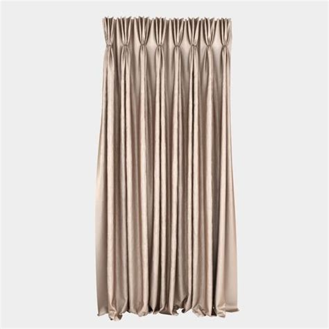 curtain models 3d pinch pleat curtain cgtrader