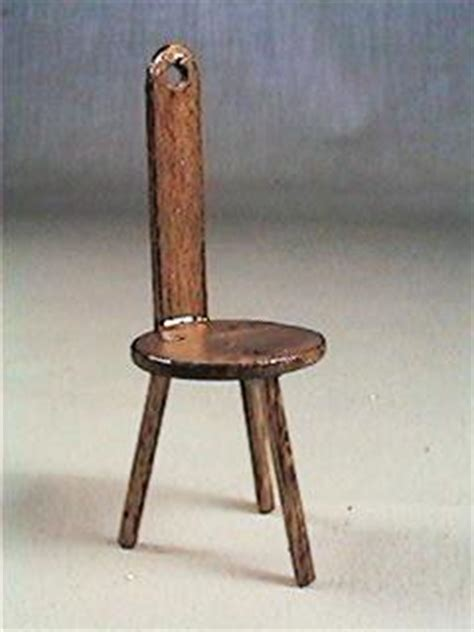 Miniature 3 Legged Stool by Artist Crafted Early American Dollhouse Miniatures