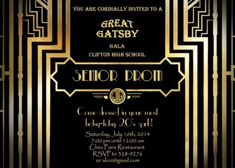 the great gatsby invitation template great gatsby invitation hairstyles