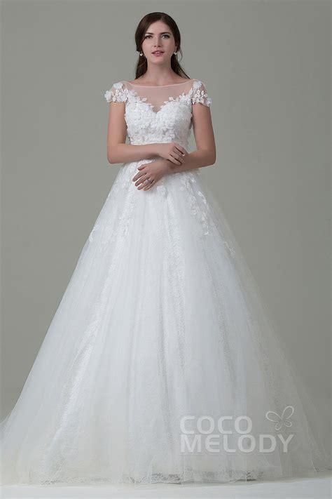tulle lace open  wedding dress lwat
