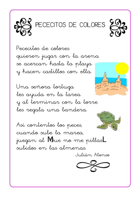 poesia imagenes sensoriales para ni os poesias infantiles