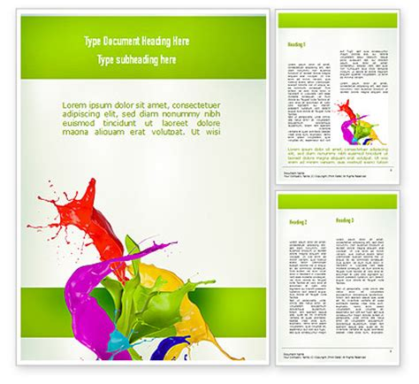 paint splash word template 10929 poweredtemplate com