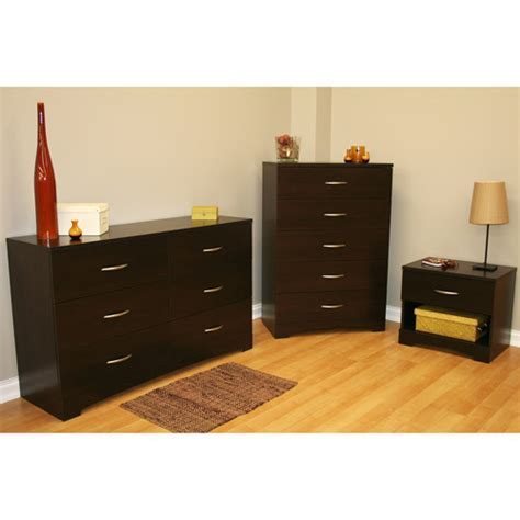 South Shore Soho Dresser south shore soho 3 dresser and nightstand set chocolate dressers iowa