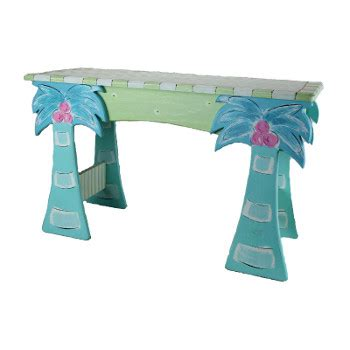 palm tree table l wood palm tree table bench