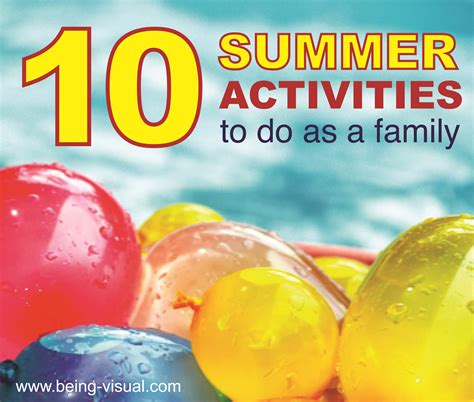 10 Summer Activities by Summer Activities For Family Summer Family Time