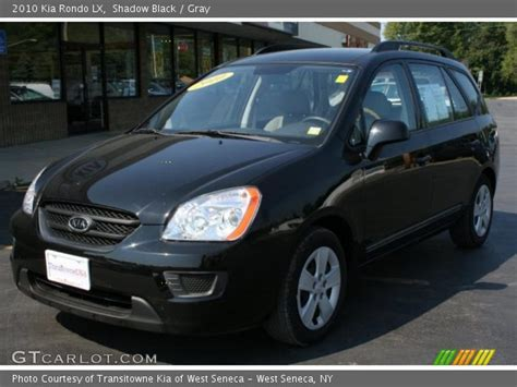 2010 Kia Rondo Lx Shadow Black 2010 Kia Rondo Lx Gray Interior
