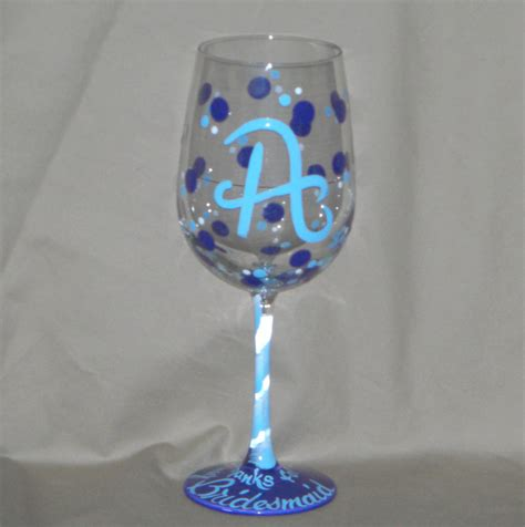 personalized barware glasses hand painted wine glasses bybecca