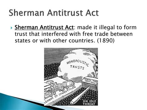 sherman antitrust act section 1 ppt a new industrial age powerpoint presentation id