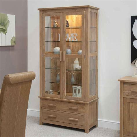Cupboard Glass - opus oak glass display cabinet modern oak glass display