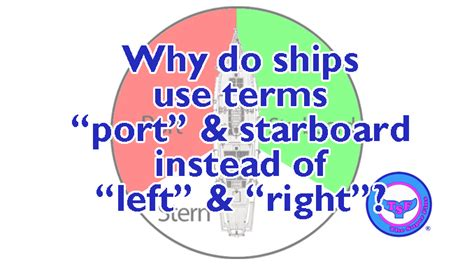 port side vs starboard why do ships use quot port quot and quot starboard quot instead of quot left