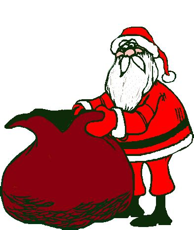 animated photos of christmas santa claus with reindeer santa claus with sack animated gifs gifmania