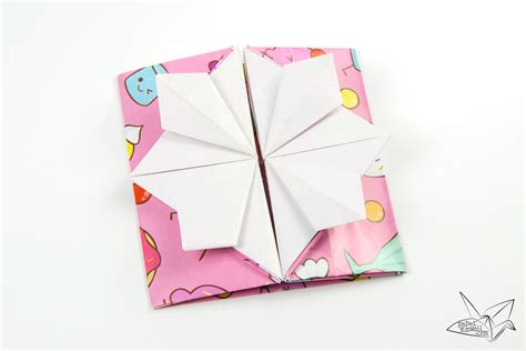 Up Box Origami - origami popup envelope box tutorial paper kawaii