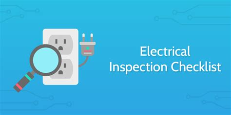 electrical inspection checklist process