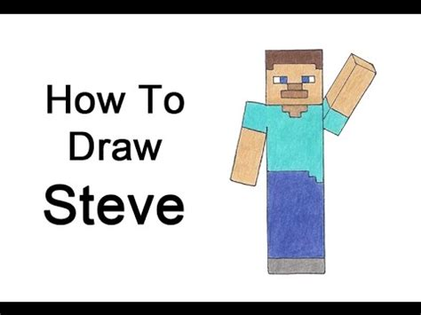 How To Make A Minecraft Steve Out Of Paper - how to draw steve from minecraft