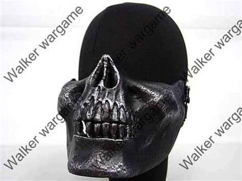 Diskon M03 Cacique Soldiers Skeleton Half Mask Black Gold Bagus guns markers m03 soldiers skull plastic half protector mask metal black colour was