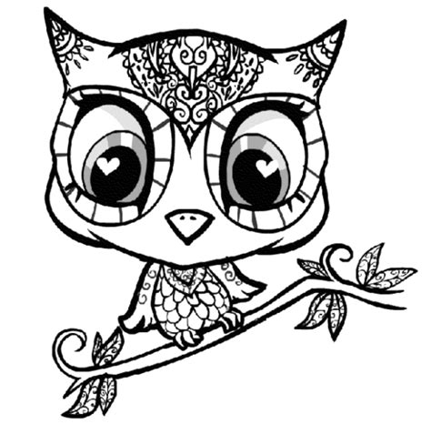 Coloring Pages Owl Coloring Pages For Adults Hard Coloring Pictures For