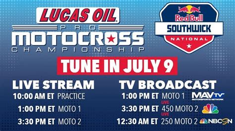 pro motocross live timing rd 7 southwick lucas oil mx nationals moto related