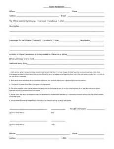 Sample Barter Agreement Template a sample barter agreement