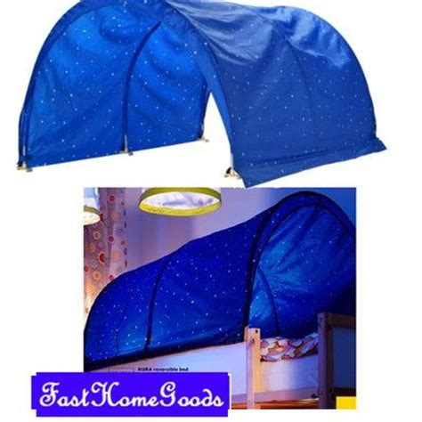 kura bed tent new ikea kura bed canopy tent blue white star kids kid