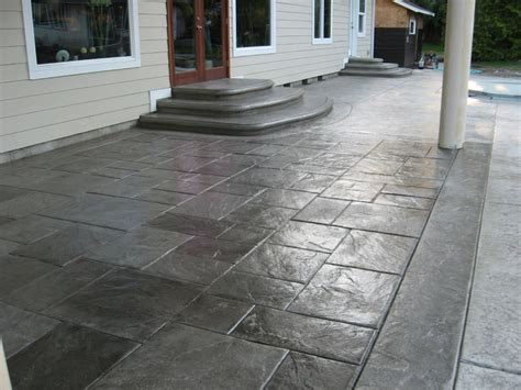 grey patterned concrete 24 amazing sted concrete patio design ideas