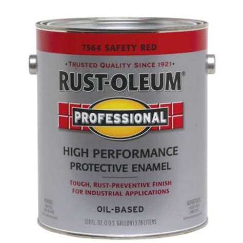 rust oleum professional safety 1 gallon paint