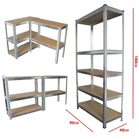 metal garage shelving boltless 5 tier heavy duty garage storage metal steel shelving racking unit ebay