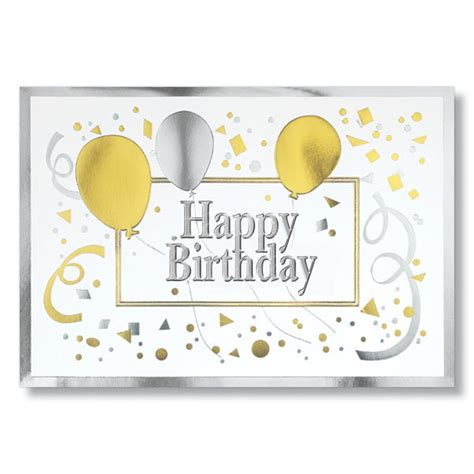 In Birthday Cards Gold And Silver Happy Birthday Cards