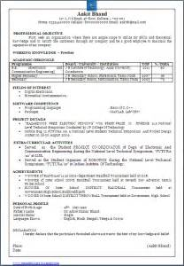 Resume Sles For Experienced Electronics And Communication Engineers Resume Co Beautiful One Page Resume Cv Sle In Word Doc Of A B E E C Bachelor Of