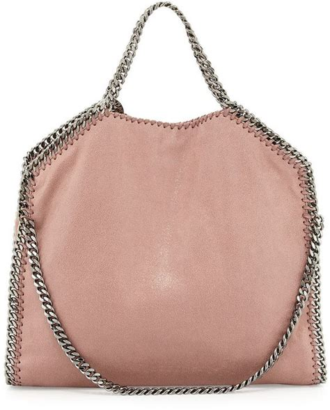 Purse Deal Stella Mccartney Designer Tote by Stella Mccartney Falabella Fold Tote Bag Pink