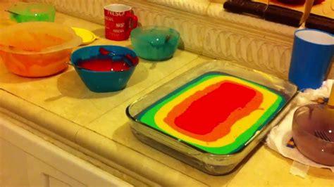una tarta sencillsima de hacer con colores muy primaverales como hacer pastel arcoiris youtube