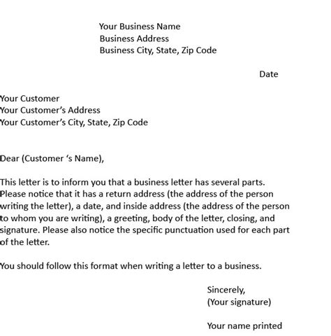 College Business Letter Exle Business Letter Silly S School