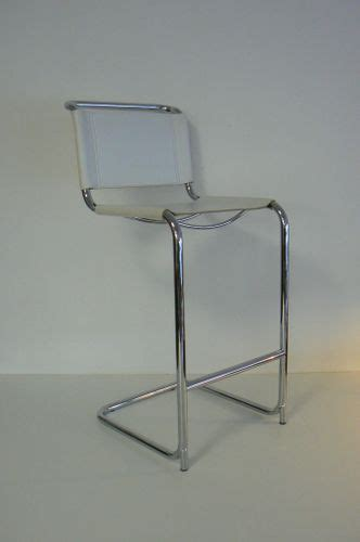 White Leather And Chrome Bar Stools by White Leather And Chrome Bar Stool For Sale At Pamono