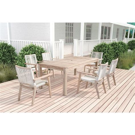 outdoor dining table home depot zuo south port wood outdoor dining table 703850 the home
